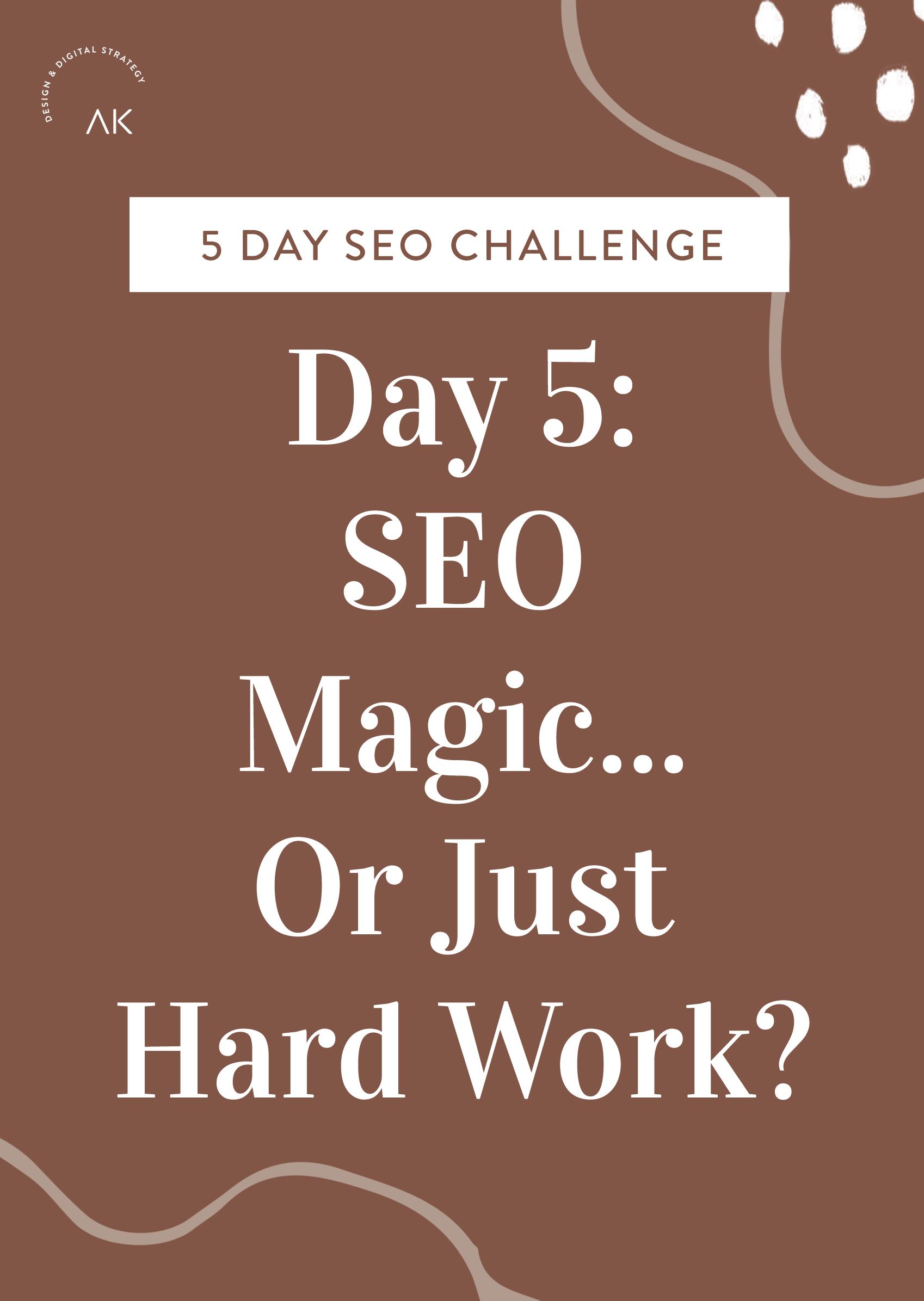 Day 5 SEO Challenge